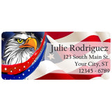 USA American Flag Eagle Stars and Stripes Personalized Return Address Labels - The FinderThings