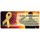 USA American Support The Troops Military Personalized Return Address Labels