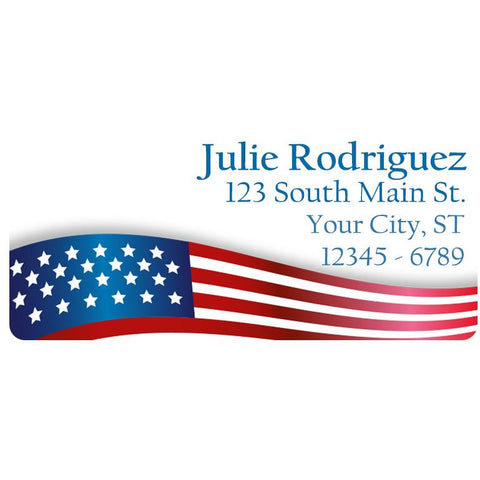 USA American Flag Military Personalized Return Address Labels