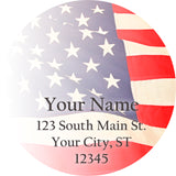 USA US Flag Personalized Return Address America 4th of July - The FinderThings