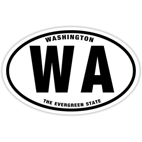 State of Washington Sticker Decal - The Evergreen State Bumper Sticker - The FinderThings