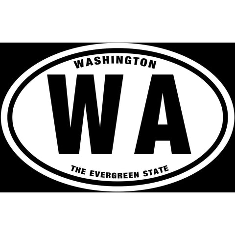 State of Washington Sticker Decal - The Evergreen State Bumper Sticker
