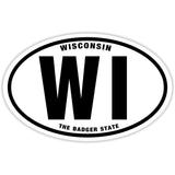 State of Wisconsin Sticker Decal - The Badger State Bumper Sticker - The FinderThings