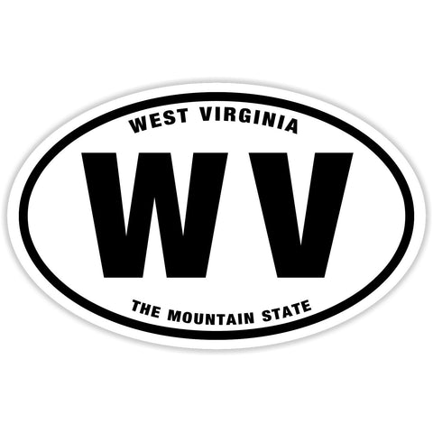 State of West Virginia Sticker Decal - The Mountain State Bumper Sticker