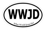 What Would Jesus Do Sticker Decal - WWJD Christian Religious Bumper Sticker - The FinderThings