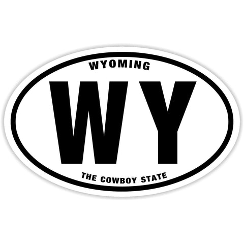 State of Wyoming Sticker Decal - The Cowboy State Bumper Sticker