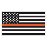 Thin Orange Line Sticker Decal - American Flag Orange Line Search and Rescue Car Sticker - The FinderThings