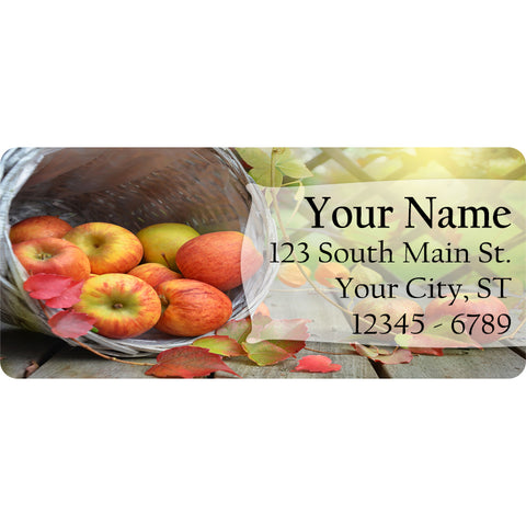 Apple Basket Personalized Return Address Labels Summer Fruit Apples - The FinderThings