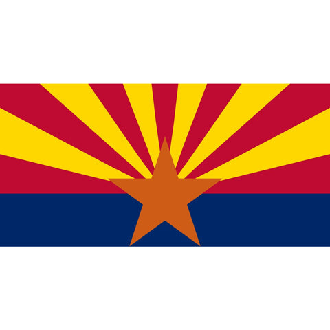Arizona State Flag Sticker Decal - The Grand Canyon State Bumper Sticker - The FinderThings