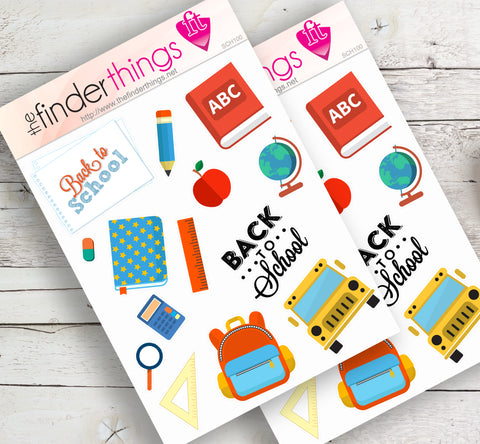 Back to School Stickers for Scrapbook, Planners, Diary, Crafts and Fun - The FinderThings
