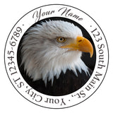 Bald Eagle Personalized Return Address Labels Bird Eagle USA American Eagle - The FinderThings
