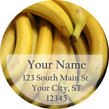 Banana Personalized Return Address Labels Summer Fruit Bananas - The FinderThings