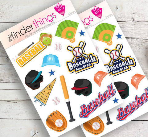 Baseball & Little League Stickers for Scrapbook, Planners, and Fun