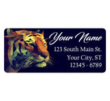 Fractal Tiger Personalized Return Address Labels Artistic Tiger Face - The FinderThings