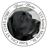 Black Labrador Personalized Return Address Labels Lab Dog Doggy - The FinderThings
