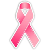 Breast Cancer Pink Ribbon Awareness Car Bumper Sticker - The FinderThings