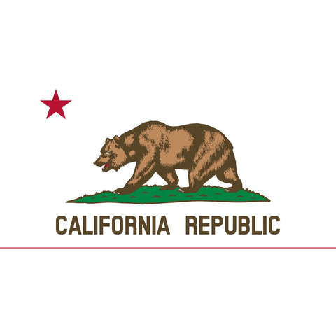 California State Flag Sticker Decal - The Golden State Bumper Sticker