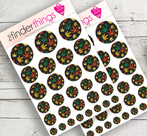 Cannabis Pattern Stickers for Scrapbook, Planners, Diary, Crafts and Fun Pot Leaf - The FinderThings