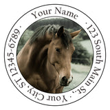Caramel Brown Horse Horse Personalized Return Address Labels Horse in the Country - The FinderThings