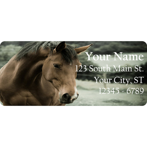 Caramel Brown Horse Horse Personalized Return Address Labels Horse in the Country