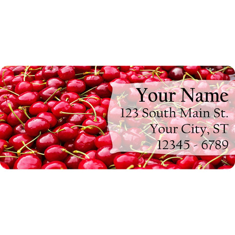 Cherry Personalized Return Address Labels Summer Fruit Cherries