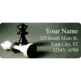 Chess Pieces Personalized Return Address Labels Queen Chess Game