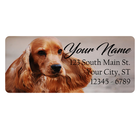 Cocker Spaniel Dog Personalized Return Address Labels Cute Dog Puppy - The FinderThings