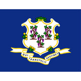Connecticut State Flag Sticker Decal - The Constitution State Bumper Sticker - The FinderThings