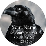 Raven Crow Personalized Return Address Labels Black Crow Raven - The FinderThings