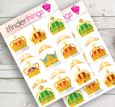 Crowns King and Queen Stickers for Scrapbook, Planners, Diary, Crafts and Fun Princess - The FinderThings