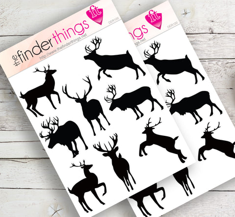Deer Silhouette Stickers for Scrapbook, Planners, and Fun - The FinderThings