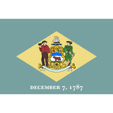 Delaware State Flag Sticker Decal - The First State Bumper Sticker - The FinderThings