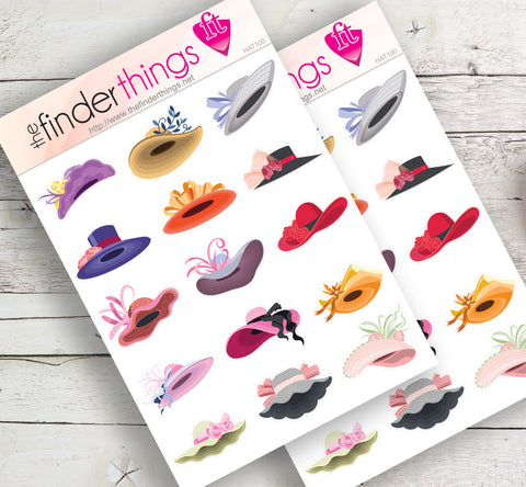 Kentucky Derby Hats Stickers for Scrapbook, Planners, Diary, Crafts and Fun Derby Hat - The FinderThings
