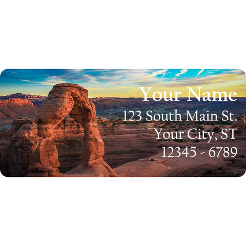 Arches National Park Personalized Return Address Labels Arch Landmark