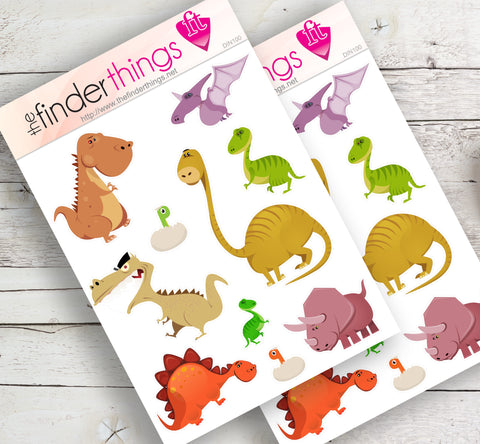Jurassic Dinosaurs Stickers for Scrapbook, Planners, and Fun - The FinderThings