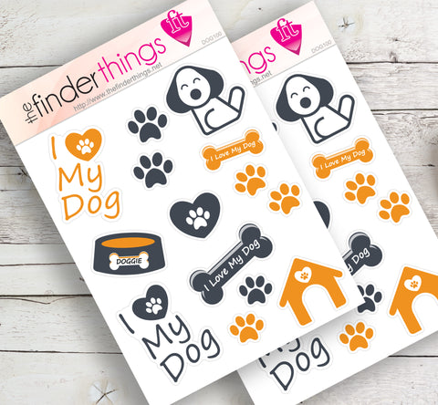 I Love My Dog Stickers for Scrapbook, Planners, and Fun - The FinderThings