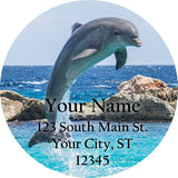 Dolphin Personalized Return Address Labels Ocean and Sea Dolphins Jumping - The FinderThings