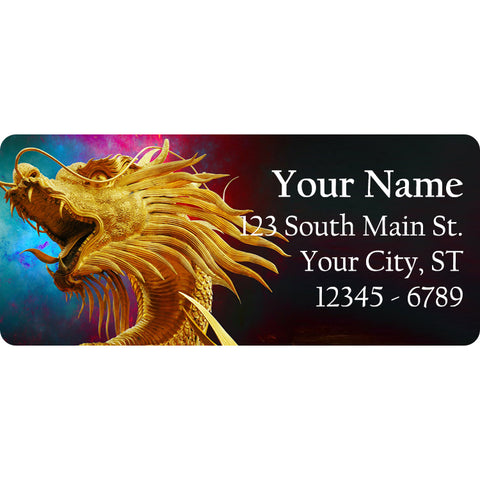 Chinese Dragon Personalized Return Address Labels Colorful Dragon - The FinderThings