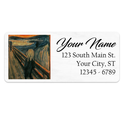 The Scream by Edvard Munch Personalized Return Address Labels Artistic