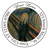 The Scream by Edvard Munch Personalized Return Address Labels Artistic - The FinderThings
