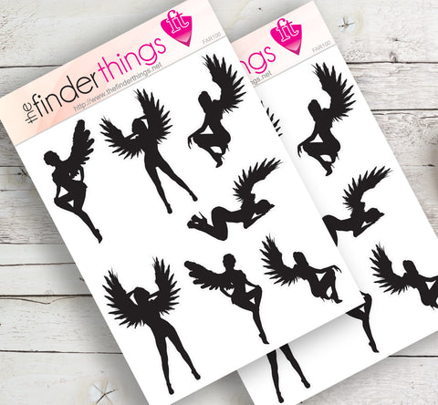 Fairy Girls Stickers for Scrapbook, Planners, Diary, Crafts and Fun Fairy Wings - The FinderThings