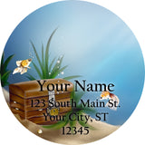 Fish Tank Treasure Personalized Return Address Labels Underwater Fish - The FinderThings