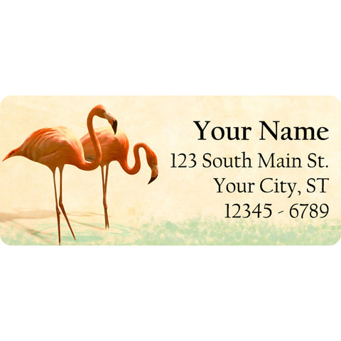 Pink Flamingo Personalized Return Address Labels Two Flamingos - The FinderThings