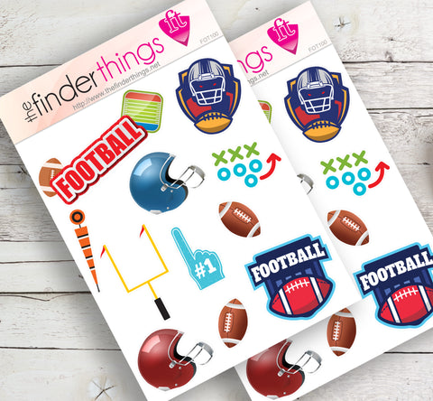 Football Equipment Stickers for Scrapbook, Planners, and Fun - The FinderThings