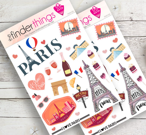France Paris Eiffel Tower Stickers for Scrapbook, Planners, Diary, Crafts and Fun - The FinderThings
