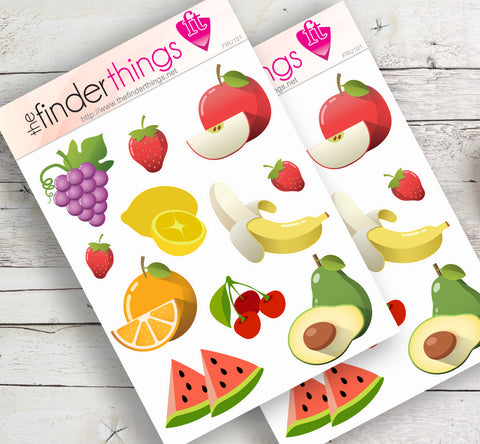 Summer Fruit Stickers for Scrapbook, Planners, Diary, Crafts and Fun