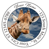 Giraffe Personalized Return Address Labels Giraffes Face Animals Africa - The FinderThings