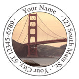Golden Gate Bridge Personalized Return Address Labels San Francisco - The FinderThings