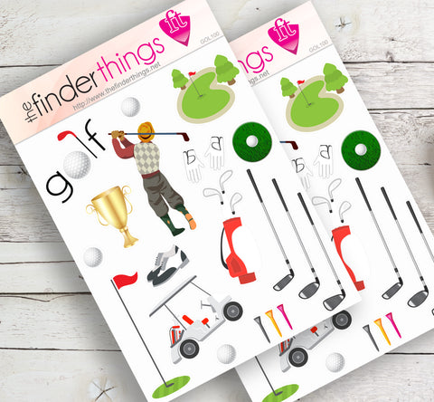 Golf Stickers for Scrapbook, Planners, Diary, Crafts and Fun Golfing Equipment - The FinderThings