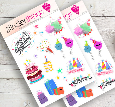 Happy Birthday Stickers for Scrapbook, Planners, and Fun - The FinderThings